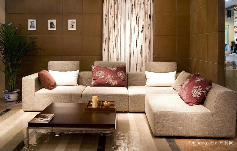 120平米柔软舒适客厅沙发设计效果图
