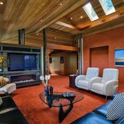 精彩的客厅实木吊顶大全