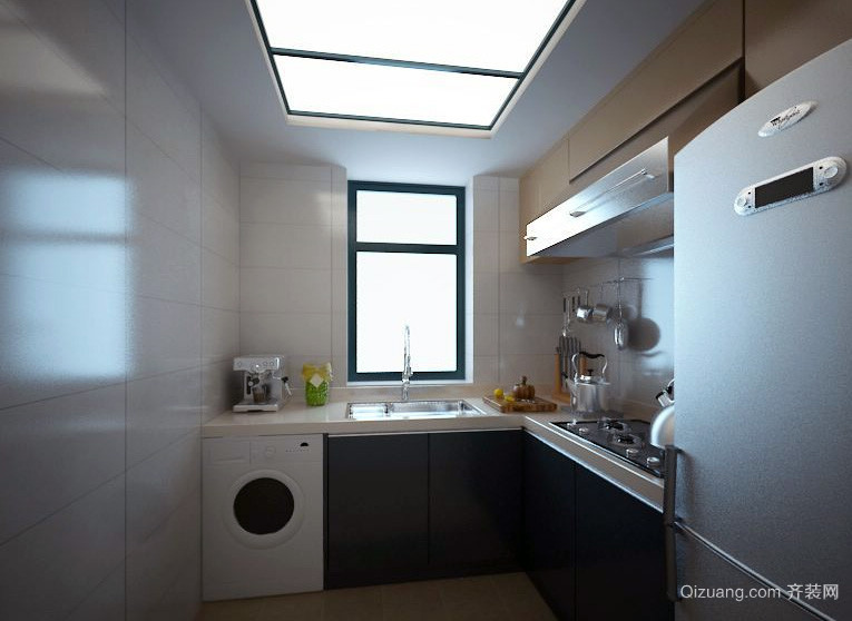 大户型现代我乐橱柜厨房装修效果图