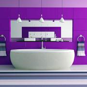 紫色浪漫的卫生间