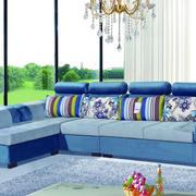 蓝色调沙发装修图片