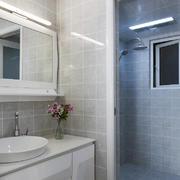 90平米简约白色卫生间设计