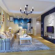 地中海风格客厅装修效果图片