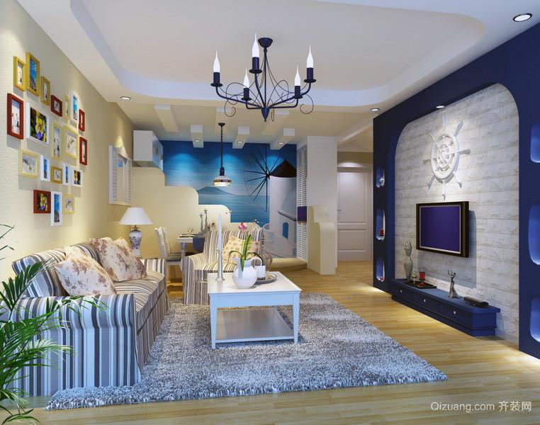 大户型地中海风格客厅装修效果图片