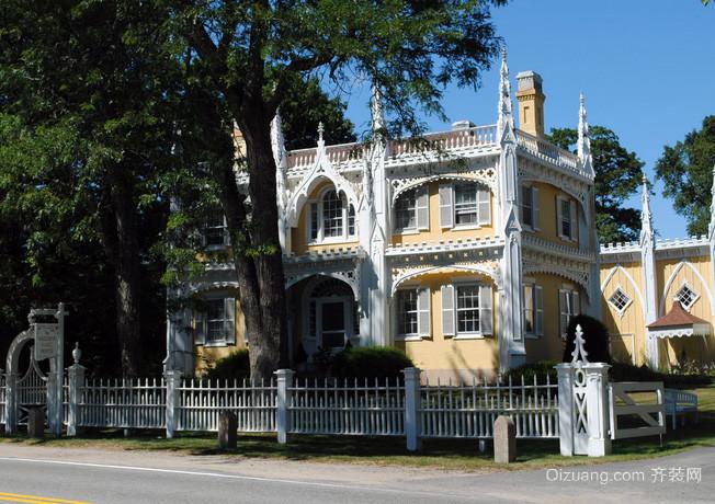 欧式哥特式风格别墅外观图装修效果图设计