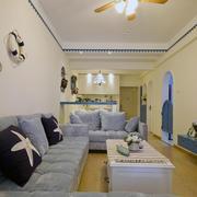 地中海风格客厅装修背景墙图