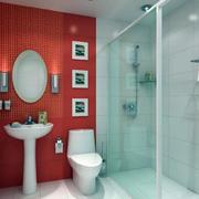 卫生间红色背景墙