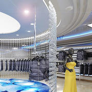 大型服装店圆形吊顶设计