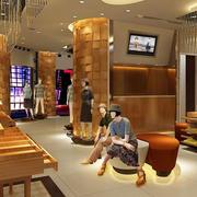 欧式服装店背景墙设计