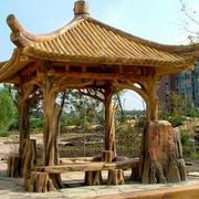 中式复古风格凉亭效果图