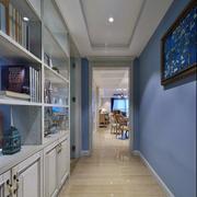 90平米房子冷色卧室背景墙设计