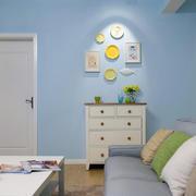 90平米淡蓝色家装背景墙设计