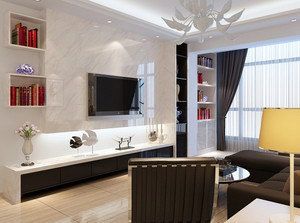 全新各式各样的简约风格电视墙装修效果图