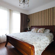 90平米典雅卧室窗帘效果图