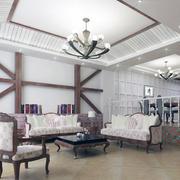 地中海风格客厅装修唯美图