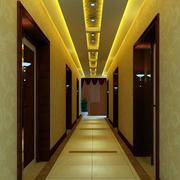 酒店欧式走廊吊顶装饰
