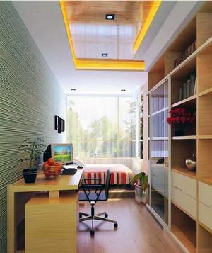 现代时尚小书房装修效果图