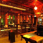 茶馆吊顶设计图片
