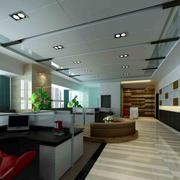 办公室简约风格吊顶灯饰装饰