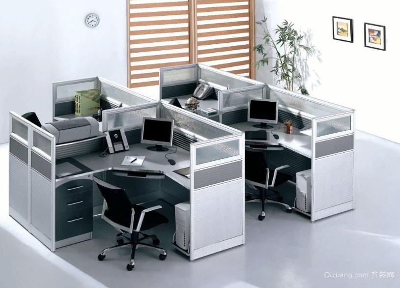 现代都市办公室隔断设计效果图