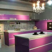 厨房紫色橱柜欣赏