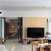 90平米三居室简约现代设计效果图