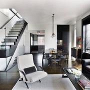 90平米欧式客厅楼梯