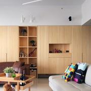 白色简约型美式90平米客厅家装设计