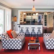 唯美精致的客厅色调搭配