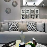 白色简约型美式三室90平米家装设计