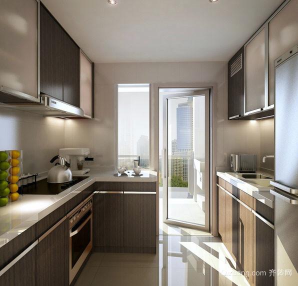 精致实用都市人家14平米整体厨房效果图