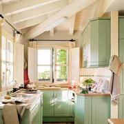 厨房绿色清新装饰