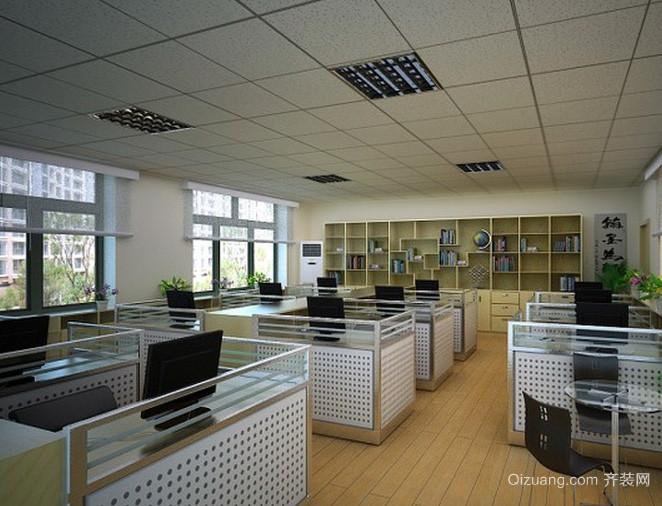现代简约风格都市常见办公室装修效果图