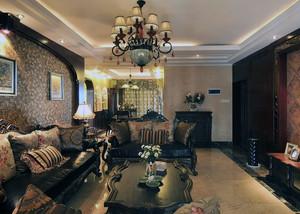 美式客厅整体效果图
