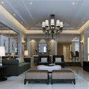 欧式现代化精美客厅效果图
