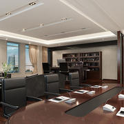 现代简约风格办公室皮制桌椅设计