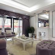 浪漫别墅客厅地毯