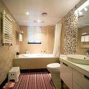 暖色调厕所设计大全