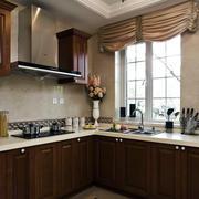 欧式厨房窗户装饰