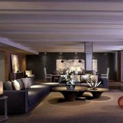 大户型公寓咖啡色地毯