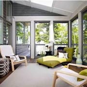 清新自然的别墅露台