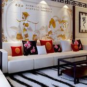 精巧中式沙发背景墙