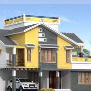 简约乡村房屋整体造型