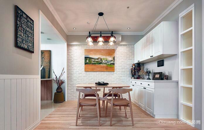 92平米一居室现代简约装修样板间效果图
