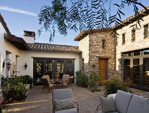 200平米别墅美式乡村风格庭院装修效果图
