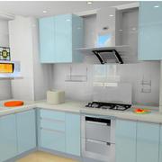 精致淡色的厨房