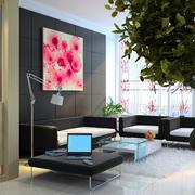 后现代风格室内设计效果图