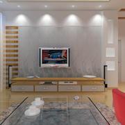 现代客厅电视背景墙设计