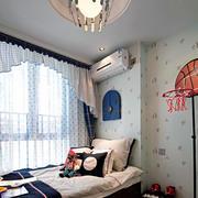 90平米温馨烂漫型简约设计床头背景墙