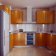 橙色精致厨房展示